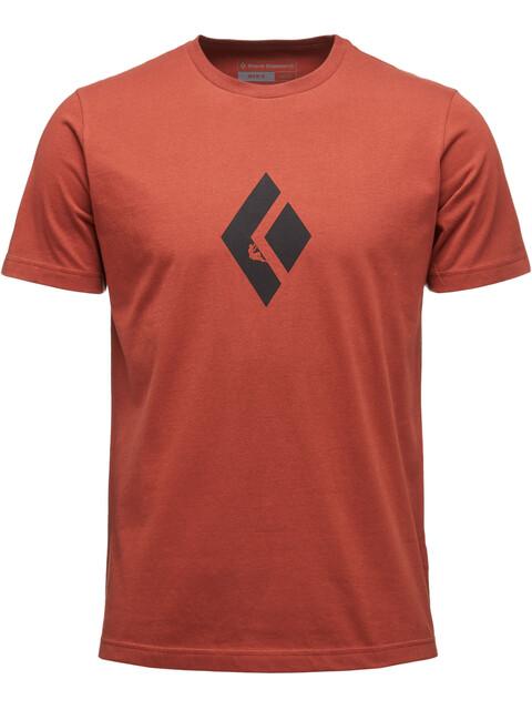 Black Diamond Climb Icon Bluzka z krótkim rękawem Mężczyźni czerwony